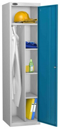 Probe Cleaner and Janitor Supplies Combination Locking Locker blue