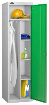Probe Cleaner and Janitor Supplies Combination Locking Locker green