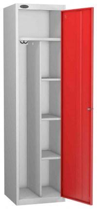 Probe Uniform Key Locking Locker 1780x460x460mm red door open