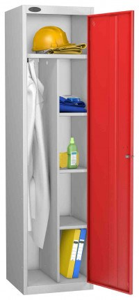 Probe Cleaner and Janitor Supplies Combination Locking Locker red