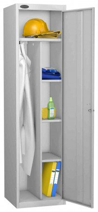 Probe Cleaner and Janitor Supplies Combination Locking Locker grey