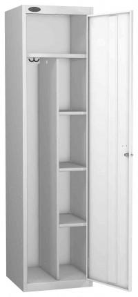 Probe Uniform Key Locking Locker 1780x460x460mm white door open