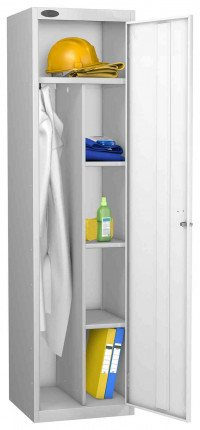 Probe Cleaner and Janitor Supplies Combination Locking Locker white