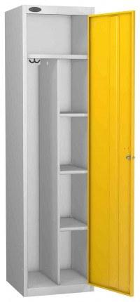 Probe Uniform Key Locking Locker 1780x460x460mm yellow door open