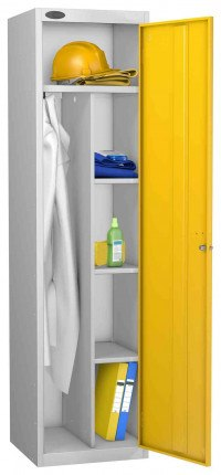 Probe Cleaner and Janitor Supplies Combination Locking Locker yellow