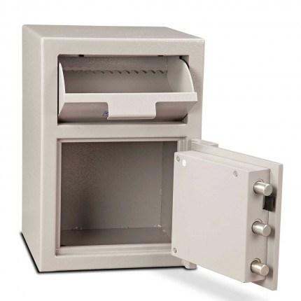 Burton Teller V51 Front Loading Deposit Safe - wide open