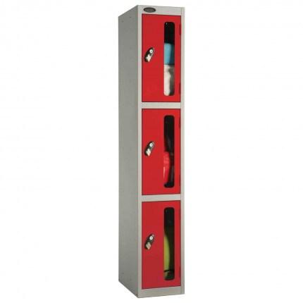 Probe 3 Door Anti-Stock Theft Vision Window Steel Locker