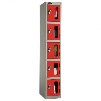Probe 5 Door Anti-Stock Theft Vision Window Steel Locker
