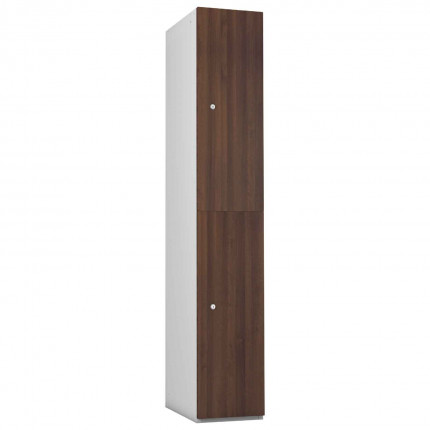 Probe 2 Door Walnut TimberBox MFC Woodgrain Door Steel Locker