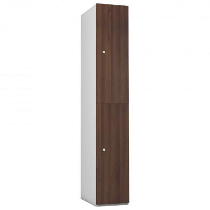 Probe 2 Door Walnut TimberBox MDF Woodgrain Door Steel Locker