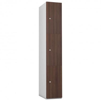 Probe 3 Door Walnut TimberBox MFC Woodgrain Door Steel Locker