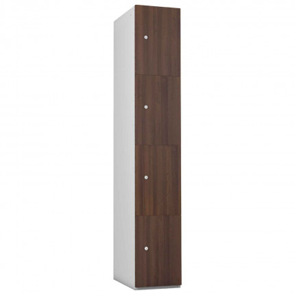 Probe 4 Door Walnut TimberBox MFC Woodgrain Door Steel Locker