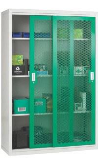 Steel Mesh Sliding Door Cabinet 1020x1830x460 - Bedford 84MD084