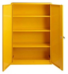 Wide Flammable Welded COSHH Cabinet - Bedford 88F824 - Doors Open