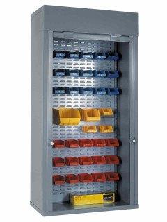 Steel Roller Shutter Door Cabinet Full Louvre 200x100x50 - Bedford 90215E