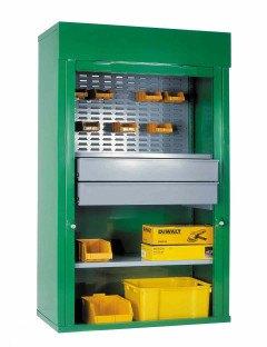 Steel Roller Shutter Cab 2 Drawers, 1/2 Louvre & 1 shelf 200x120x50 - Bedford 90225C