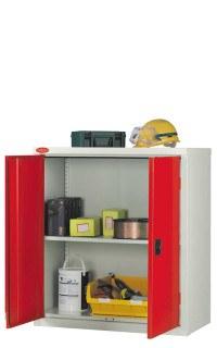 Probe LC403618 Double Door Cabinet 915x460 -  Red doors - Silver Grey body