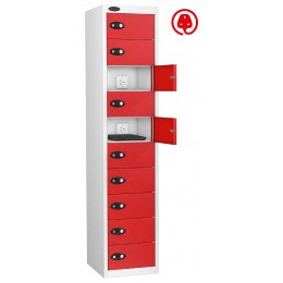 Laptop Charging Locker 10 Door - Probe Lapbox 10CHD - Red