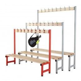 Single Bench with Coat Hooks Ash Slats - Probe Type D