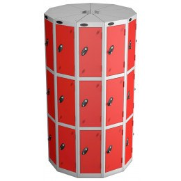 Probe Space Saving 33 Compartment Locker Pod