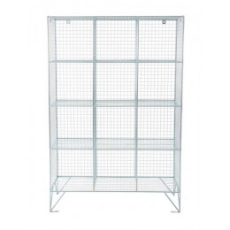 Robinson 12 Door Metal Wire Mesh 305mm deep Storage Locker
