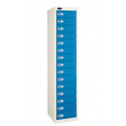 Probe 15 Door Combination Locking Storage Locker  Blue door Closed