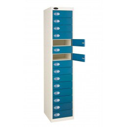 Probe 15 Blue Door Locker 1780x380x460mm with doors open