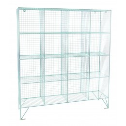 Robinson 16 Door Metal Wire Mesh 305mm deep Storage Locker