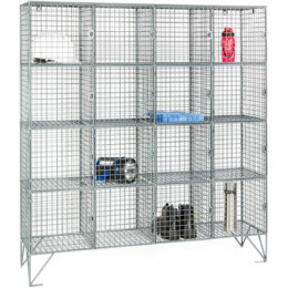 Robinson 16 Door Metal Wire Mesh 8mm Storage Locker