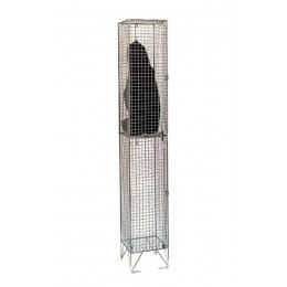 Bright Zinc Wire Mesh Locker Single 2 Door