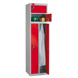 Probe Two Person Storage Combination Locking Locker 1780x460x460 red door open