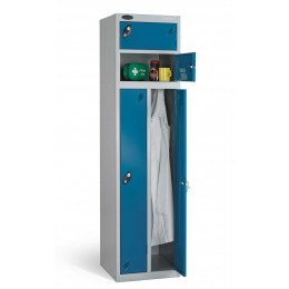 Probe Two Person Storage Key Locking Locker 1780x460x460 blue door open