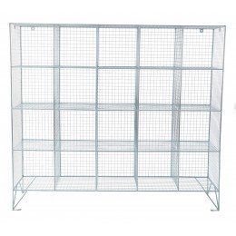 Robinson 20 Door Metal Wire Mesh 450mm deep Storage Locker