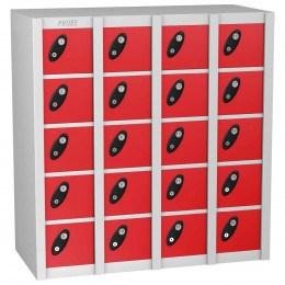 Probe MINIBOX 20 Door Combination Locking Stacking Locker Red