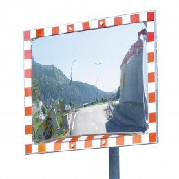 Frost Free - No Electrics - Stainless Steel Traffic Mirror - Durabel 80x100