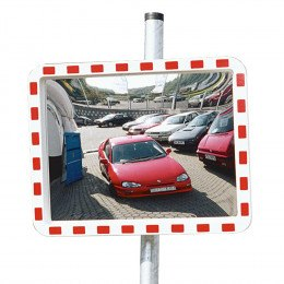 View-Minder 3 - 80x100cm Acrylic Post Mount Convex Traffic Mirror