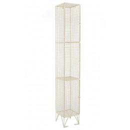 3 Door Locker - Metal Wire Mesh Storage - 305 x 305
