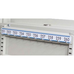 Keysecure Numbered Colour Coded Numbered Laminated 10 Hook Bar Labels