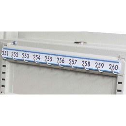 Keysecure Numbered Coloured Laminated 10 Hook Bar Labels