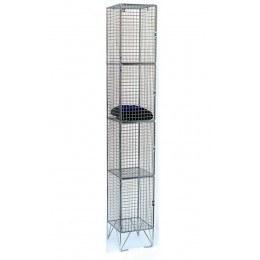 4 Door Locker - Metal Wire Mesh Storage - 305 x 305