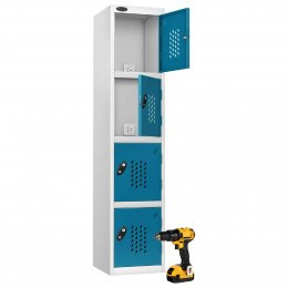 Power Tool Charging Locker 4 doors - Probe Recharge 3 PIN