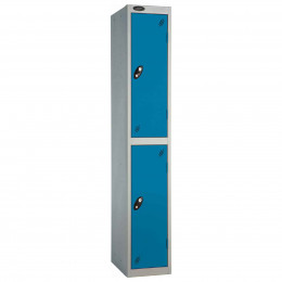 Probe 2 Door High Steel Storage Locker Key Lock - blue door