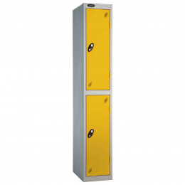 Probe 2 Door High Metal Locker Type P Combination Lock yellow
