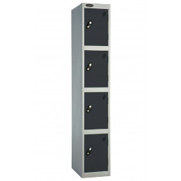Probe 4 Door Locker 1780mm high black doors and silver body