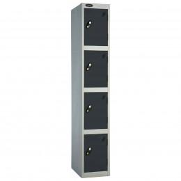 Probe 4 Door High Steel Storage Locker Padlock Hasp Lock - black door