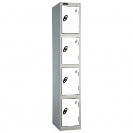 Probe 4 Door High Metal Locker Type L Electronic Lock white
