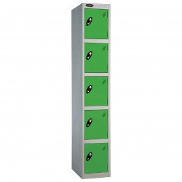 Probe 5 Door High Metal Locker Type L Electronic Lock green