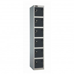Probe 6 Door High Metal Locker Type L Electronic Lock black