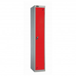 Probe 1 Door High Steel Storage Locker Padlock Hasp Lock - Red door