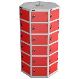 Probe Space Saving 42 Compartment Locker Pod